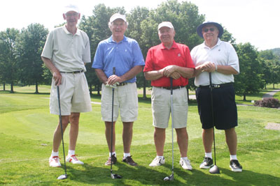 Charity Golfers at event