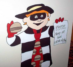 The hamburglar wall decoration