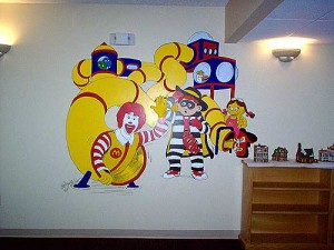 Interior room decoration of Ronald McDonald and friends
